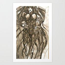 Sky dark Android Mk3 Art Print