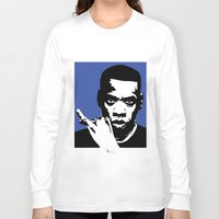 jay z Long Sleeve T-shirts featuring Jay Z by Gary Barling