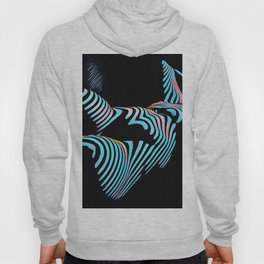 5143s-MAK Zebra Stripe Curves Sensual Female Body Art Hoody