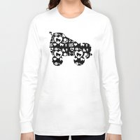 roller derby Long Sleeve T-shirts featuring Roller Derby Skate Print by Mean Streak