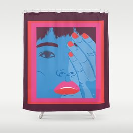 face the light and the dark Shower Curtain
