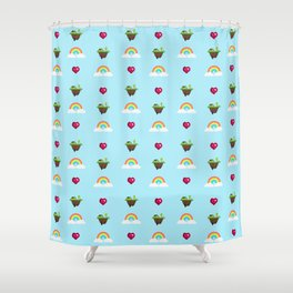 Somewhere Over The Rainbow pattern Shower Curtain