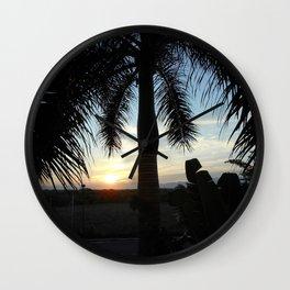 """Sunset in Puerto Vallarta Wall Clock"