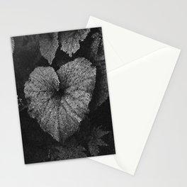Grey Grey Heart Stationery Cards