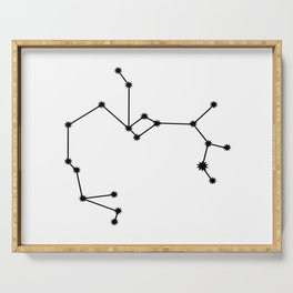 Sagittarius Star Sign Black & White Serving Tray