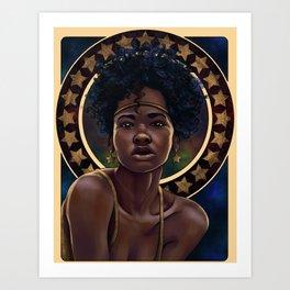 Nouveau  Stars Art Print