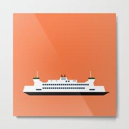 Puget Sound Ferry Pop Art - Seattle, Washington Metal Print