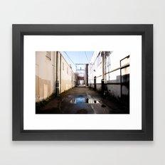Aberdeen Alleyway Framed Art Print