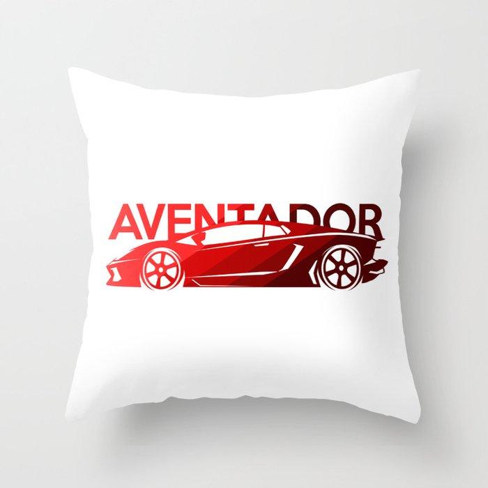 Lamborghini Aventador - classic red - Throw Pillow