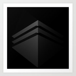 Black shape.3D Rendering Art Print