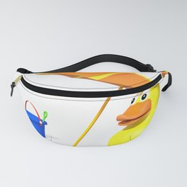 Rubber duck at the beach Fanny Pack