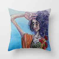 mirror Throw Pillows featuring Mirror by Katy Daiber