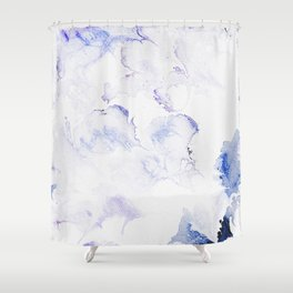 Modern abstract navy blue lavender watercolor Shower Curtain
