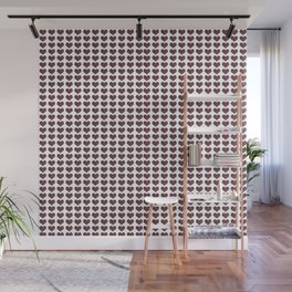 Pattern of hearts Wall Mural