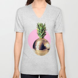Ananas party (pineapple) Pink version Unisex V-Neck
