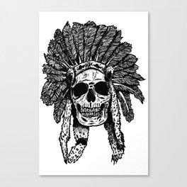 Chief Skull Canvas Print