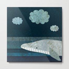 Whale Minus Tail Metal Print
