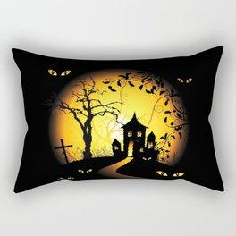 Halloween Castle Nightmare Rectangular Pillow