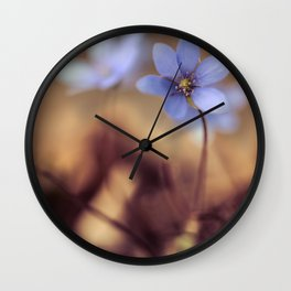 Morning impression with liverworts Wall Clock
