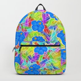 Hawaiian Blue Flowers Backpack