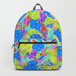 Hawaiian Blue Flowers Backpack