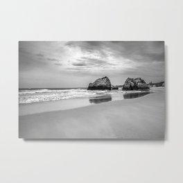 Stone beach Praia da Rocha Metal Print