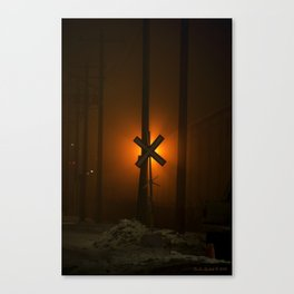 Fog Crossing Canvas Print