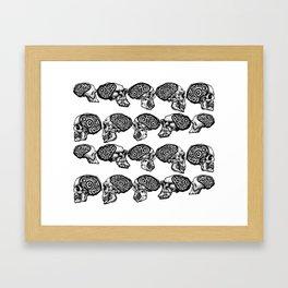 Skull Evolution Framed Art Print