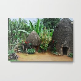 Dorze Village Huts and Tropical Gardens, Ethiopia, Africa Metal Print