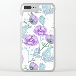 Lilac flowers. Clear iPhone Case