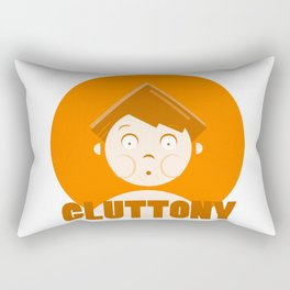Gluttony - 7 deadly cartoon sins Rectangular Pillow