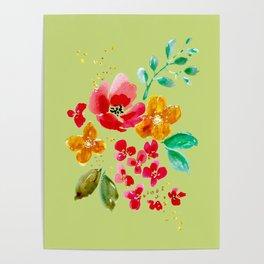 Poppy Bouquet Poster