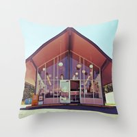 mid century Throw Pillows featuring Mid-Century Americana by Vorona Photography