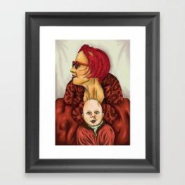 with child Framed Art Print