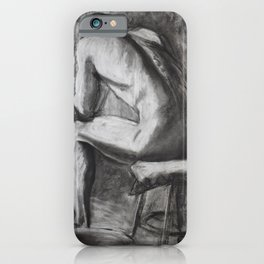 Charcoal study of a man's back iPhone Case