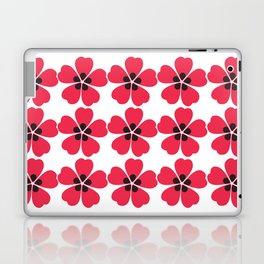 Japanese Sakura Floral Pattern - White Laptop & iPad Skin