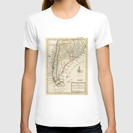 Vintage Map of Chile and Argentina (1732) T-shirt