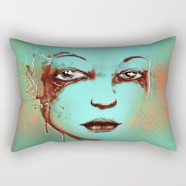 Rusted Girl green Rectangular Pillow