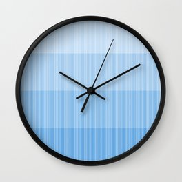 Four Shades of Light Blue with Stripes Wall Clock