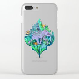 Little Elephant on a Jungle Adventure Clear iPhone Case