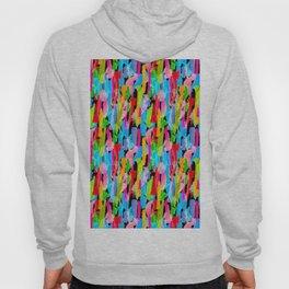 Abstract Brushstrokes - Black Hoody