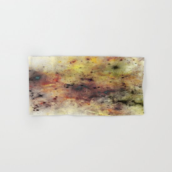 Into The Unknown - Abstract, rustic space style painting Hand & Bath Towel