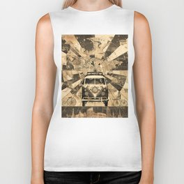 vintage voyager world map design 7 Biker Tank