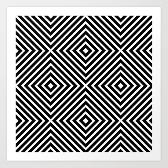 Chevron Diamond ///www.pencilmeinstationery.com Art Print