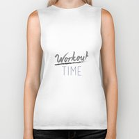 workout Biker Tanks featuring Workout Time by claudialvp