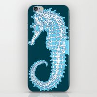 sea horse iPhone & iPod Skins featuring Sea horse by Thom Deer