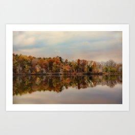 Autumn At Lake LaJoie 2 Art Print