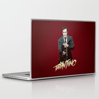 quentin tarantino Laptop & iPad Skins featuring Quentin by CromMorc