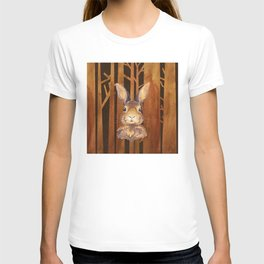 Rabbit in the forest- abstract animal hare watercolor illustration T-shirt