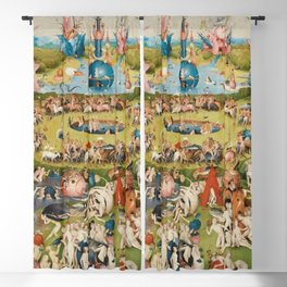 THE GARDEN OF EARTHLY DELIGHT - HEIRONYMUS BOSCH Blackout Curtain